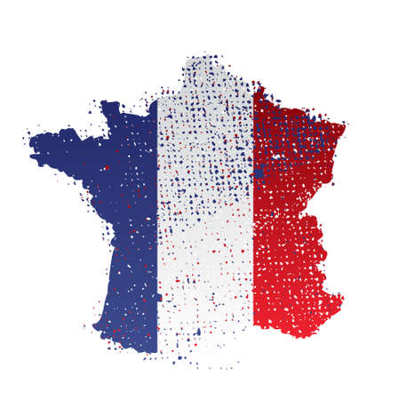 regional product: map, french flag    product, made in france