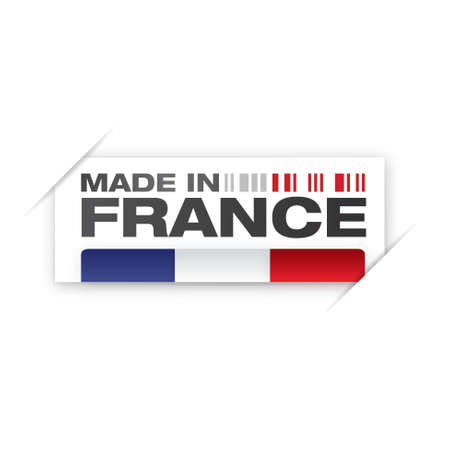 french produce: stamp, french flag    product, made in france
