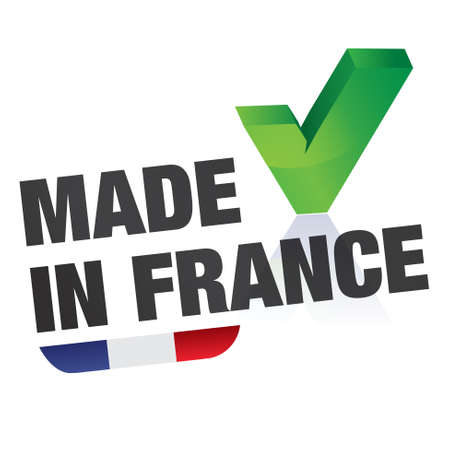 stamp, french flag    product, made in france Vector