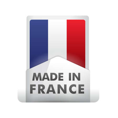 pin, french flag    product, made in france Vector