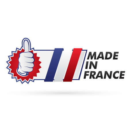 regional product: stamp, french flag    product, made in france