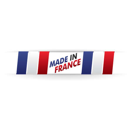 quality regional: stamp, french flag    product, made in france