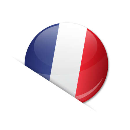 regional product: french flag, badge    product, made in france Illustration