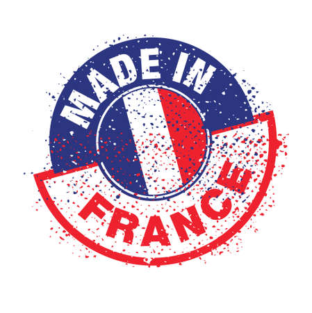 stamp, french flag    product, made in france Stock Vector - 17031453