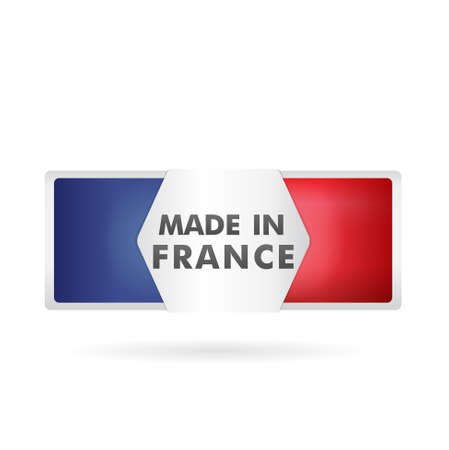 french produce: french flag, stamp    product, made in france