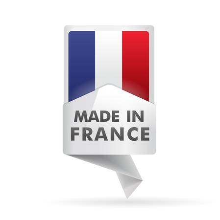 french flag, pin    product, made in france Vector