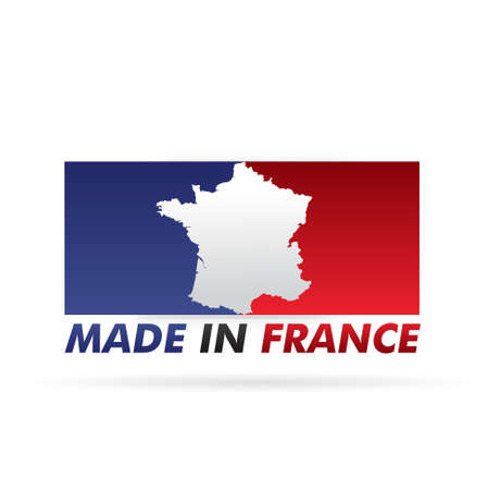 french flag, stamp    product, made in france