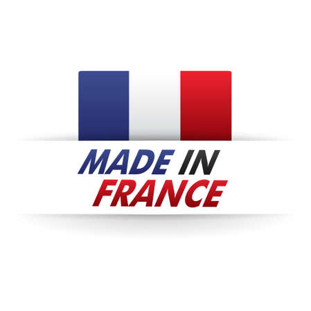 french produce: french flag   product, made in france