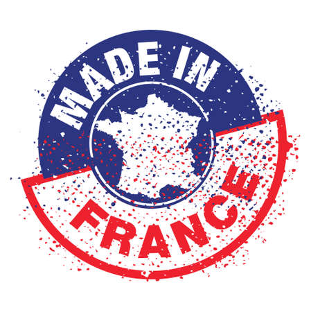 stamp   product, made in france Vector