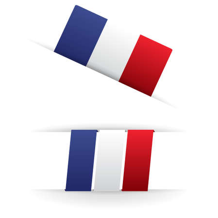 french flag   product, made in france Stock Vector - 17031456