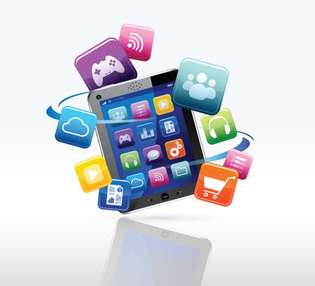 e-commerce on touchpad