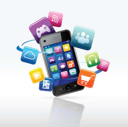 e-commerce on smartphine Stock Vector - 17253935