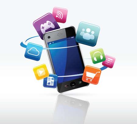 e-commerce on smartphine Stock Vector - 17253923