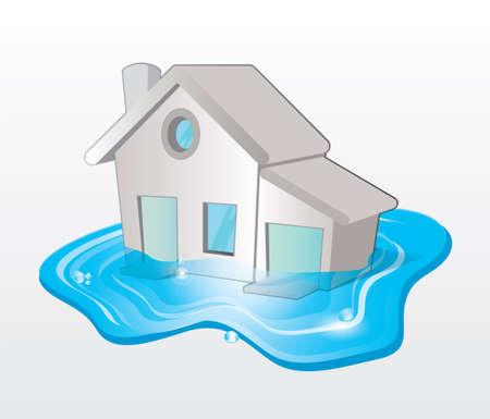 flood Stock Vector - 17253911