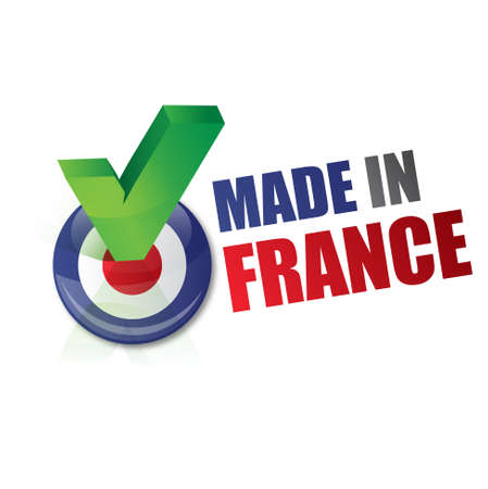 regional product: made in france - fabriqu� en france Illustration