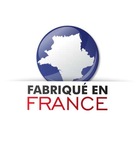 regional product: made in france - fabriqu� en france Illustration