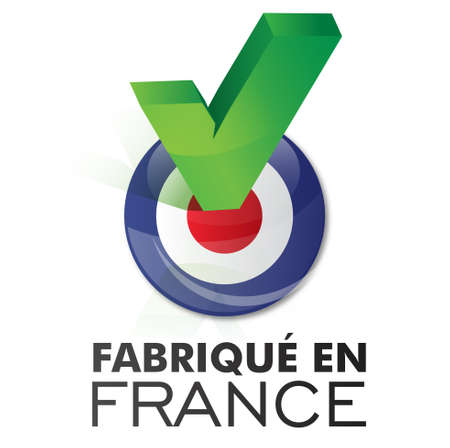 regional product: made in france - fabriqué en france Illustration