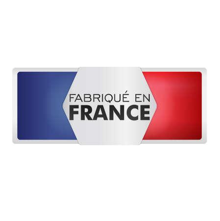 regional product: made in france - fabriqué en france Illustration