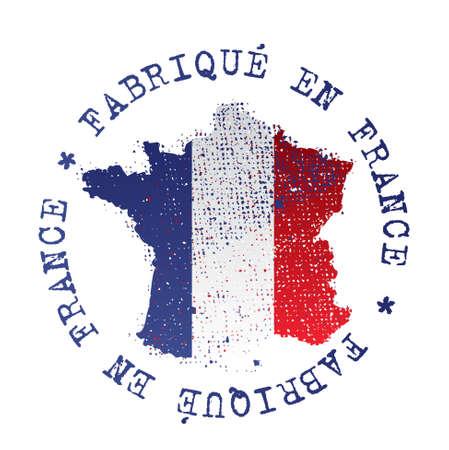 flag of france: made in france - fabriqu� en france Illustration