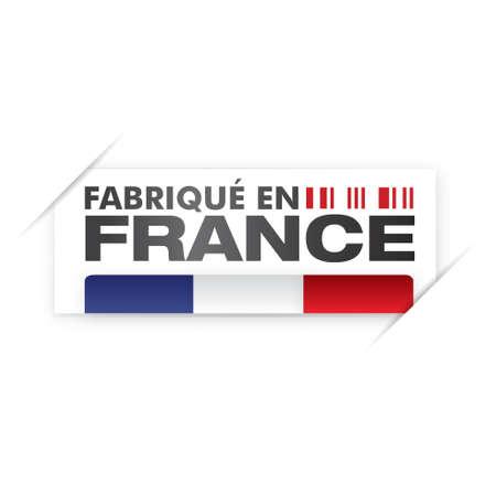 french label: made in france - fabriqué en france Illustration