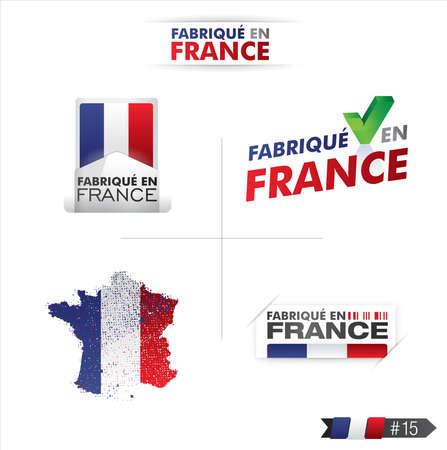 france stamp: made in france - fabriqu� en france Illustration