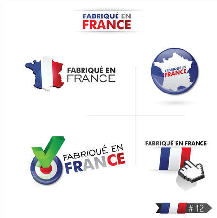 made in france - fabriqué en france Vector