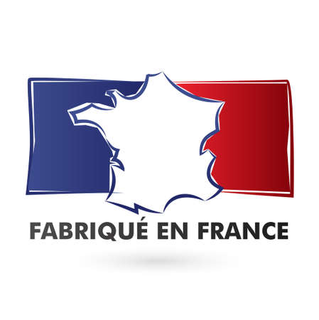 french produce: made in france - fabriqu� en france Illustration