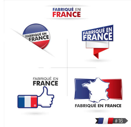 quality regional: made in france - fabriqué en france Illustration