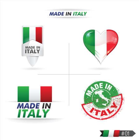 made in italy Stock Vector - 17310406