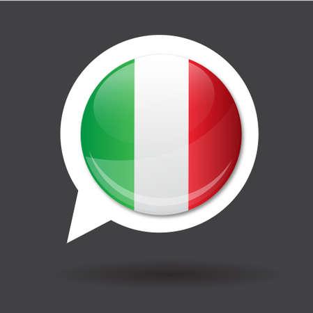 Italien de drapeau made in italy Banque d'images - 17310402
