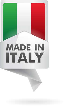 flaga włoch: tworzył we włoszech Ilustracja