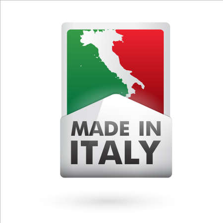 italy flag: made in italy