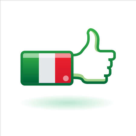 origin: i like italy - made in italy Illustration