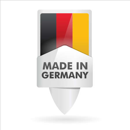 ending of service: button   made in germany   Illustration