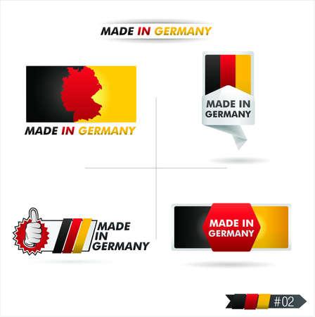 botón hecho en alemania Ilustración de vector