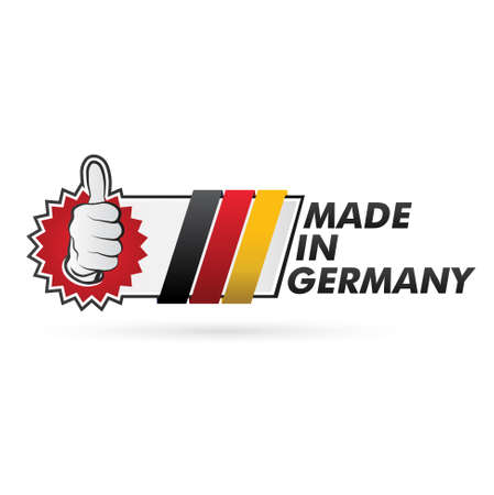 button   made in germany   Illustration