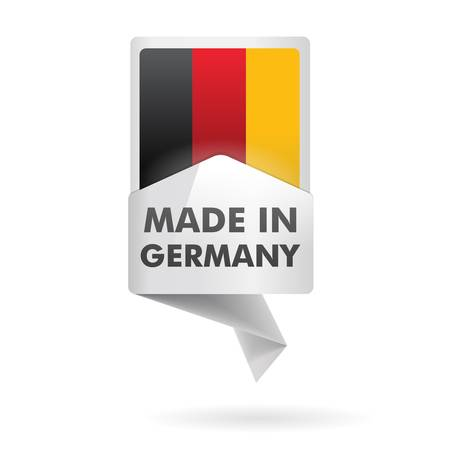 article marketing: button   made in germany   Illustration