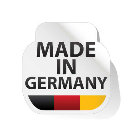 made in germany: sticker, button   made in germany