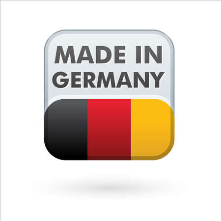 german: button   made in germany   Illustration
