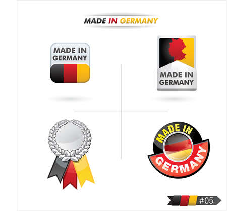 made in germany: button   made in germany   Illustration