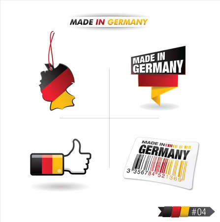ending of service: buttons   made in germany   Illustration