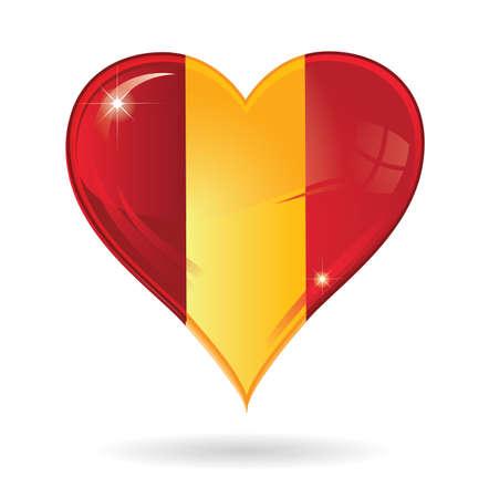 madrid  spain: heart   made in spain Illustration