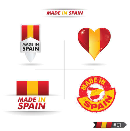 spanish flag: made in spain