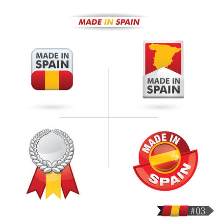 ending of service: sale retail Made in spain Illustration