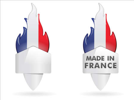 Flame   made in france Vector