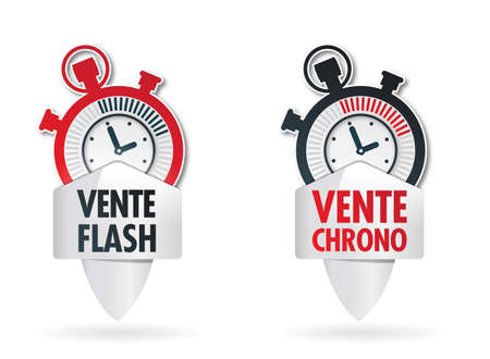 ending of service: button   vente chrono Illustration