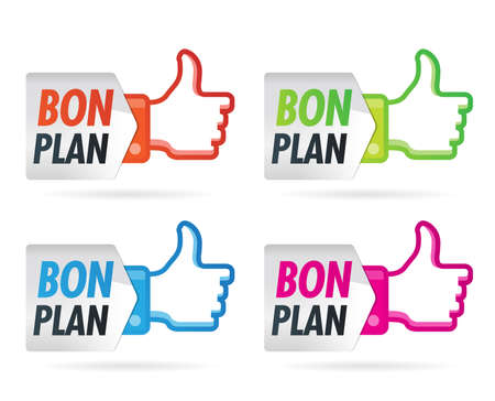Advertising   bon plan Vector