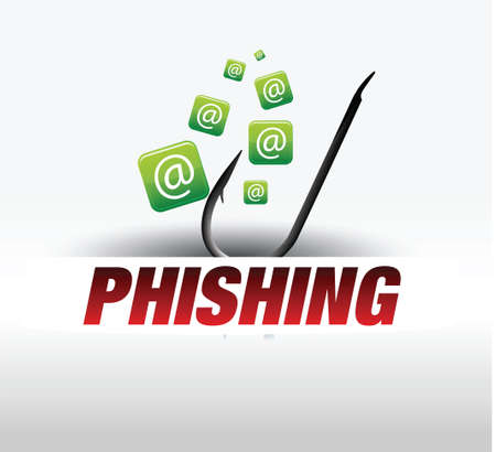 phishing - computer security Stock Vector - 18869387