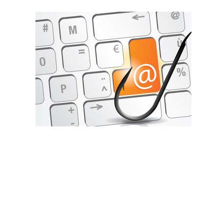 e-mail and fishing Illusztráció