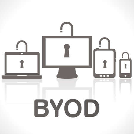 BYOD - bring your own devices Stock Vector - 19070871